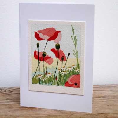 East Sussex Poppies - Original Watercolour Painting by Jessica Coote