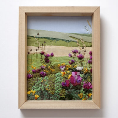 Flowers on the South Downs Creative Hand Embroidery by Jessica Coote