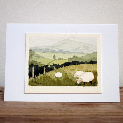 Grazing Sheep - Original Watercolour Painting by Jessica Coote