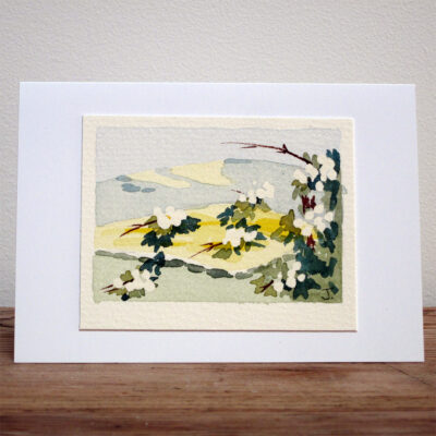 Oil Seed Fields - Original Watercolour Painting by Jessica Coote