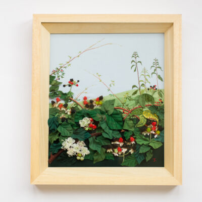 Blackberries – Hand Embroidered Landscape by Jessica Coote