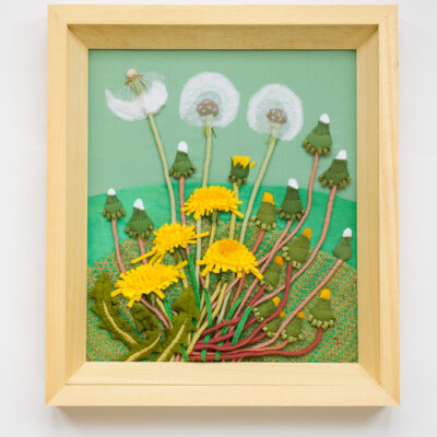 Dandelion – Hand Embroidered Landscape by Jessica Coote
