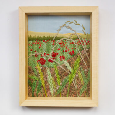 Wheat and poppies