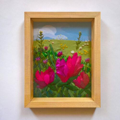 Red-clover-Jessica-Coote-textile-landscape